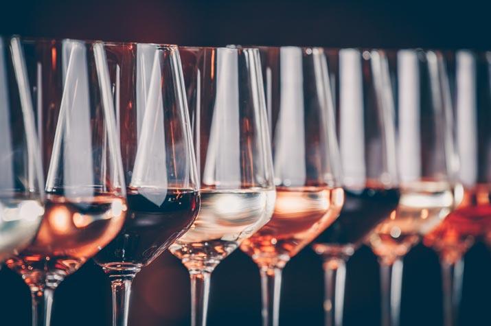 Verschillende wijnsoorten