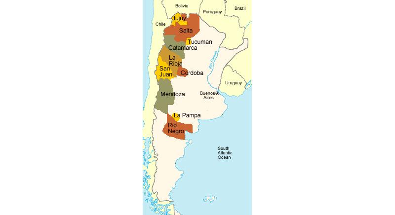 wijngebieden Argentinië